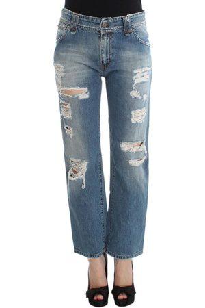 John Galliano Boyfriend Fit Cropped Jeans