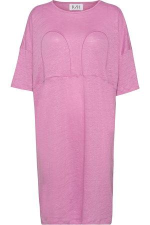 R/H Studio Kvinna Klänningar - Mickey Long Square Dress Dresses Everyday Dresses Rosa