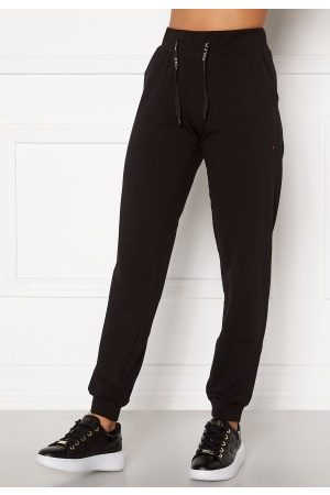 Only Play Kvinna Joggingbyxor - Performance Athl Ayn Reg Pants Black/ W.Black & Red XS