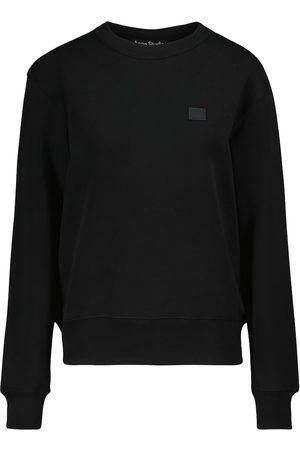 Acne Studios Kvinna Långärmade - Fairah Face cotton sweatshirt