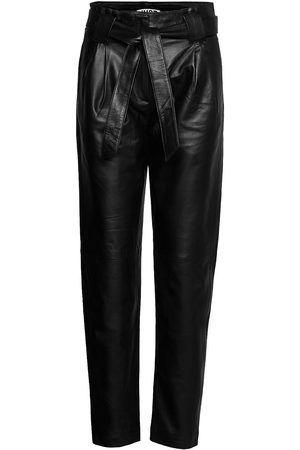 Just Female Kvinna Leggings - Nago Leather Trousers Leather Leggings/Byxor