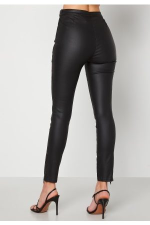 BUBBLEROOM Kvinna Leggings - Brienne coated zip leggings Black 34