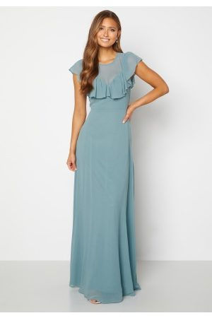 Moments New York Lea Frill Gown Green 40