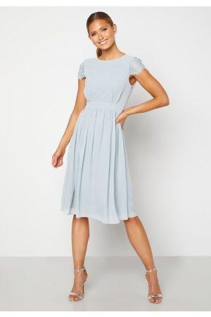 Moments New York Camellia Chiffon Dress Grey-blue 36