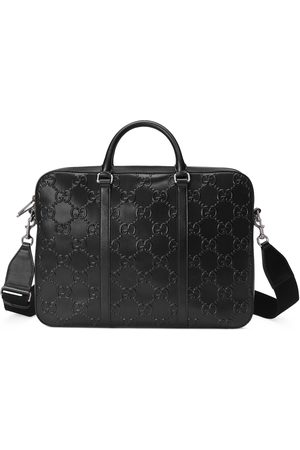 Gucci Man Laptopfodral - GG embossed briefcase