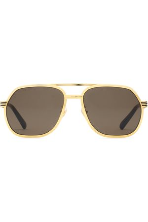Gucci Man Solglasögon - Navigator frame sunglasses