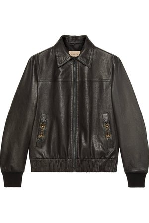 Gucci Leather bomber jacket