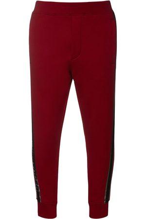 Dsquared2 Man Joggingbyxor - Logo Tape Cotton Jersey Sweatpants
