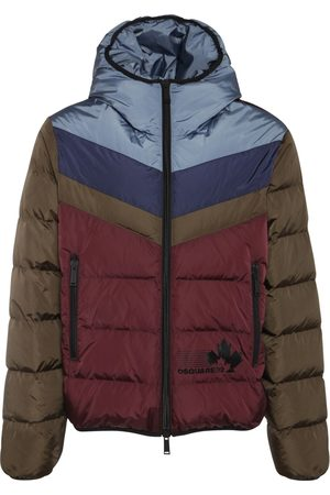 Dsquared2 Man Dunjackor - Color Block Nylon Down Jacket