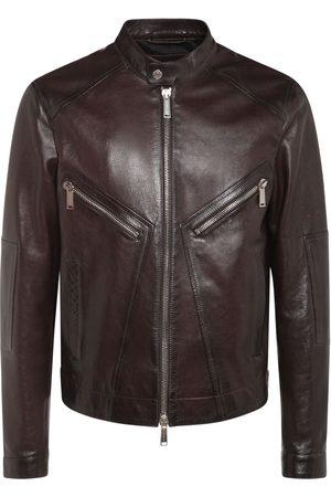 Dsquared2 Man Skinnjackor - Leather Biker Jacket