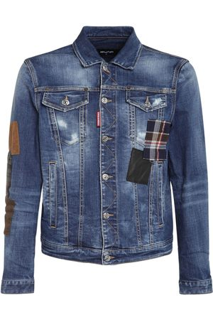 Dsquared2 Man Jeansjackor - Patches Cotton Denim Jacket