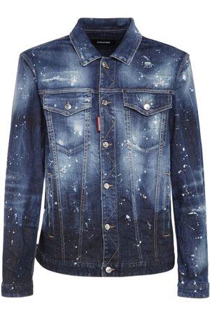 Dsquared2 Printed Cotton Denim Jacket