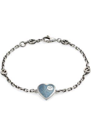 Gucci Armband - Bracelet with Interlocking G enamel heart
