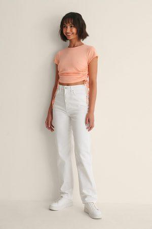 NA-KD Kvinna Straight - Ekologiska Raka Jeans
