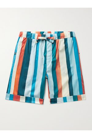 Desmond & Dempsey Striped Cotton Pyjama Shorts