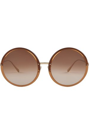 Linda Farrow Round Sunglasses