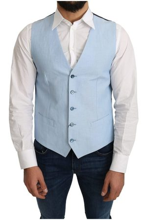Dolce & Gabbana Viscose Stretch Formal Coat Vest