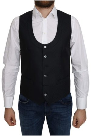 Dolce & Gabbana Silk Romb Pattern Formal Coat Vest