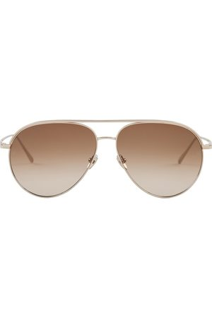 Linda Farrow Roberts Aviator Sunglasses
