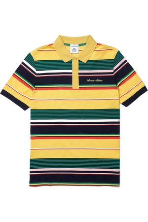 Lacoste Live Embroidered Striped Pique Polo Shirt