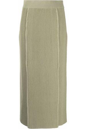 12 STOREEZ Kvinna Pennkjolar - Ribbed knit skirt