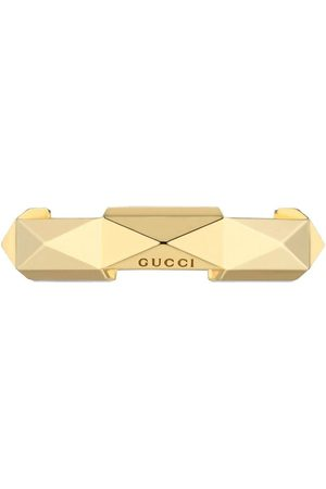 Gucci Ringar - 18kt yellow gold Link to Love studded ring