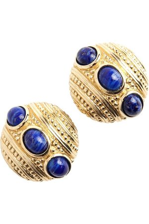 Dior Pre-owned Vintage opulent Blue clip on earrings