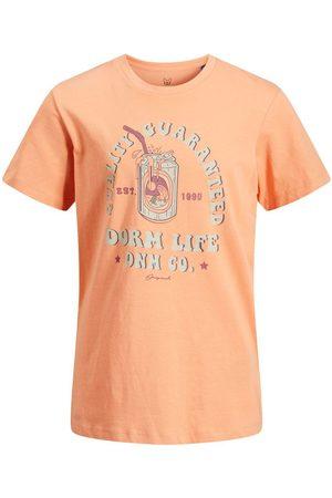 JACK & JONES Junior Tropiskt Tryck - T-shirt Man Pastel
