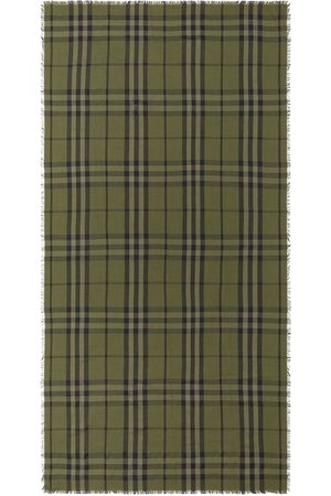 Burberry Halsdukar - Rutig halsduk med franskant