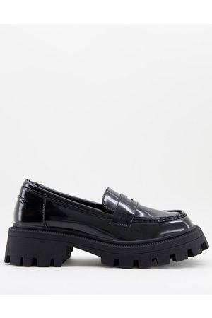 ASOS – Mulled – Svarta grova loafers
