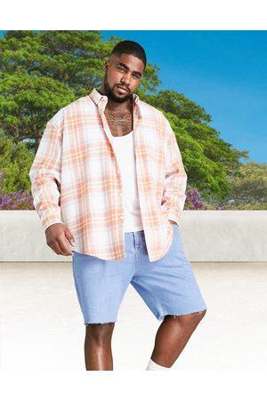 ASOS – Vit ginghamrutig skjorta i oversize med 90-talsstil