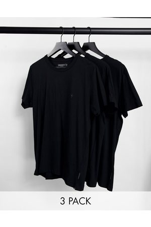 French Connection – Svarta mys-t-shirts i 3-pack