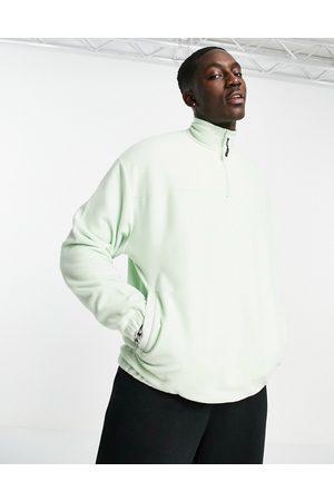 ASOS – Pastellgrön fleece-sweatshirt i oversize med kort dragkedja- /a