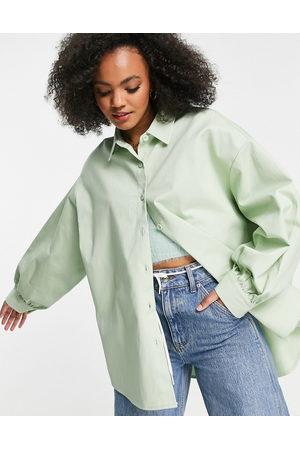 ASOS – Mintfärgad skjortjacka i oversize- /a