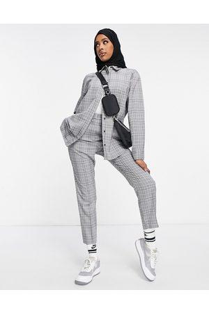 ASOS – Premium – Svart-vitrutiga kostymbyxor, del av set-Olika färger