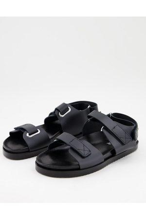 Kaltur – Svarta dad-sandaler i läder- /a