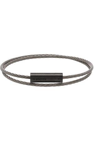 Le Gramme Man Armband - Borstat dubbelt kabelarmband 7 g