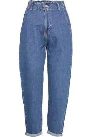 Mango Kvinna Straight - Sira Raka Jeans Blå