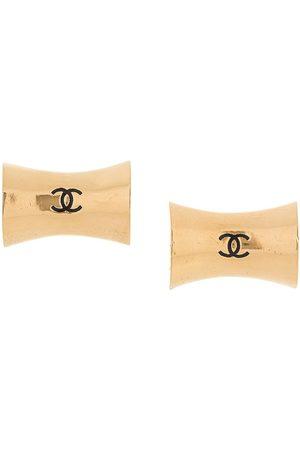 Chanel Pre-Owned Kvinna Örhängen - CC Jumbo clipsörhängen