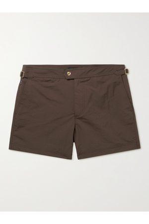 Tom Ford Man Badshorts - Slim-Fit Mid-Length Swim Shorts