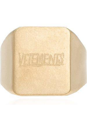 Vetements Man Ringar - Ring with logo