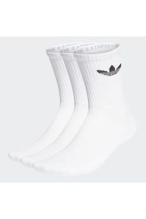adidas Strumpor - Cushioned Trefoil Mid-Cut Crew Socks 3 Pairs