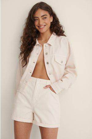 NA-KD Kvinna Jeansskjortor - Ekologisk Denimskjorta Med Bröstficka