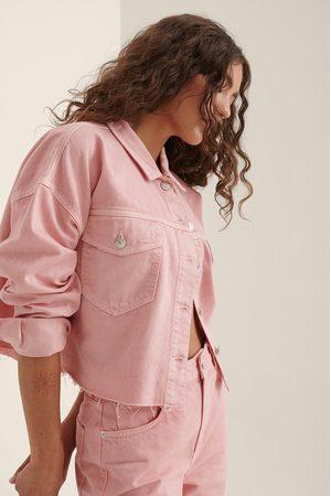 NA-KD Ekologisk Denimskjorta Med Bröstficka