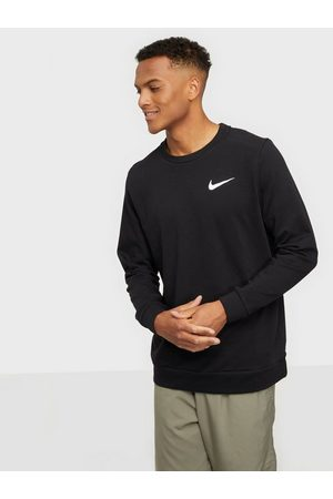 Nike Man Sweatshirts - M Nk Df Ls Crw Tröjor Black/White