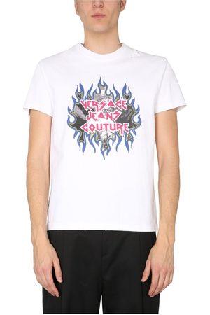 VERSACE T-Shirt With Rock Logo Print