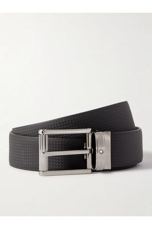 Mont Blanc Man Bälten - 3cm Textured-Leather Belt