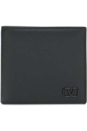VALENTINO GARAVANI Metal Logo & Leather Billfold Wallet