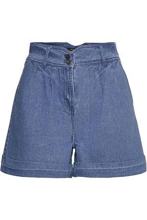 Bruuns Bazaar Broomrap Cabrine Shorts Shorts Denim Shorts Blå