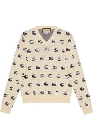 Gucci Man Stickade tröjor - GG knit cotton jacquard jumper